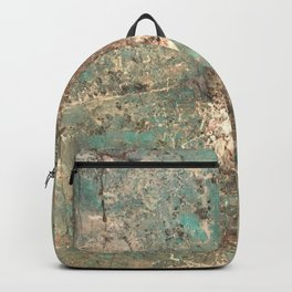 Turquoise and Fawn Brown Marble Backpack