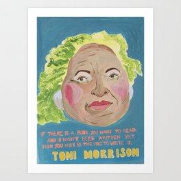 Toni Morrison - Badass Woman Portrait Art Print