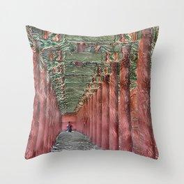 Traditional Korean Changdeokgung Palace_A1 Throw Pillow
