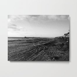 Walking through the beach Metal Print