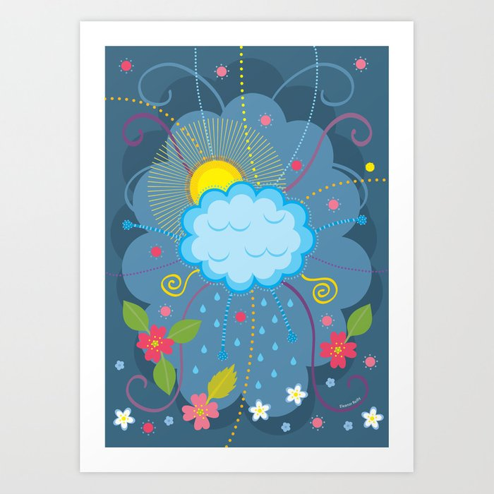 Willow Cloud Art Print