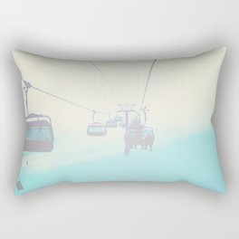 Chair Lift into the Light Rectangular Pillow