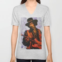 Let me stand next to your fire Unisex V-Neck