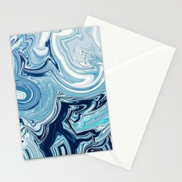 Design 144 blue swirls Stationery Cards