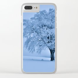 Solitary Snow Tree - Landscape Photograhpy Clear iPhone Case