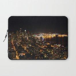 Seattle Night Lights - Great Wheel Laptop Sleeve