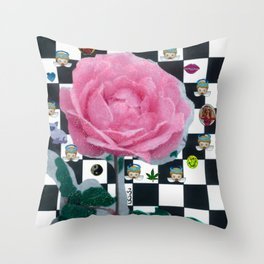 MY ROSE IS KAWAII Throw Pillow