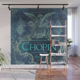 Frederick Chopin Blue Wall Mural
