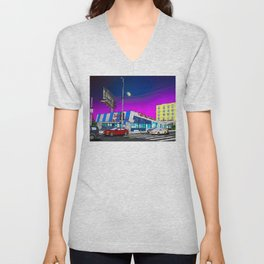 Johnie's Coffee Shop (Fairfax and Wilshire) Unisex V-Neck