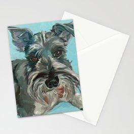 Schnauzer Dog Portrait Stationery Cards