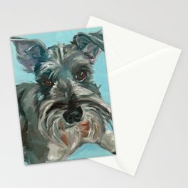 Schnauzer Dog Portrait Stationery Cards
