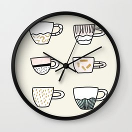 Cups cups cups Wall Clock
