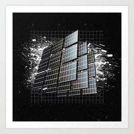 Quadrant Explosing Quandrants Art Print