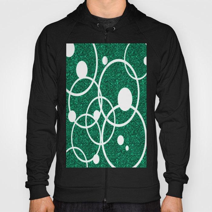 Circles on Green and Black Hoody
