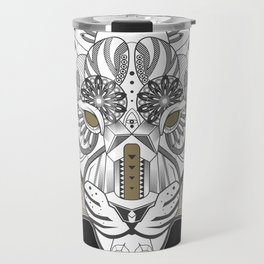 Zentangle Tiger 02  Travel Mug