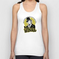 willy wonka Tank Tops featuring Willy W quote by Buby87