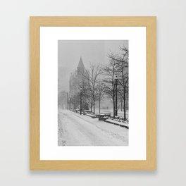 Toronto Flatiron Building in Winter Framed Art Print