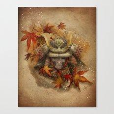 Late Autumn Samurai Canvas Print