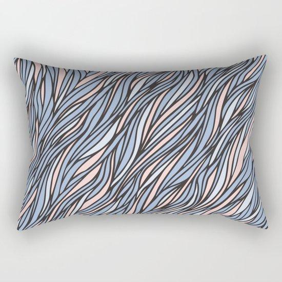 Rose quartz serenity wave pattern Rectangular Pillow