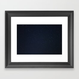 filling the darkness Framed Art Print