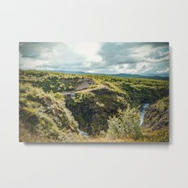 Rivers and Roads Metal Print