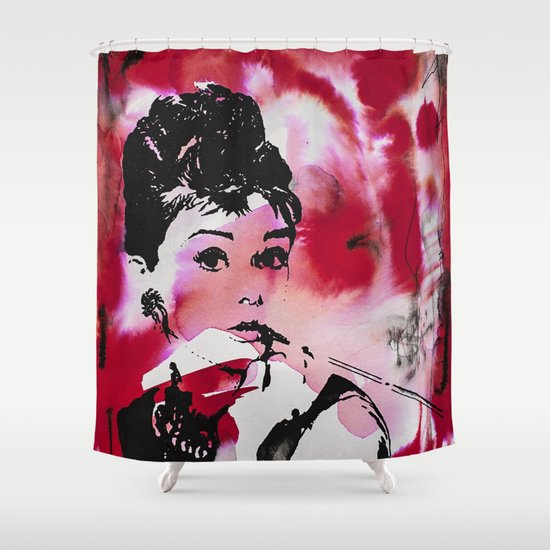 Audrey Hepburn Shower Curtain by Art Of Kiss | Society6
