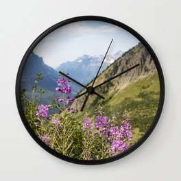 Mountain Blossoms Wall Clock