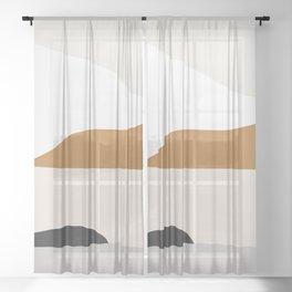 Minimal Art Landscape 2 Sheer Curtain