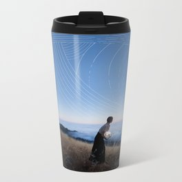 she stole the moon from the stars Metal Travel Mug