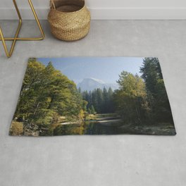 Wallpaper Yosemite California USA Sierra Nevada mountains, Mariposa County Nature Autumn park forest river Parks Forests Rivers Rug
