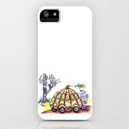 Punky Pumpkin Car for fast safe Halloween Carpool Trick or Treating iPhone Case