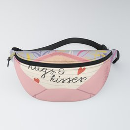Hugs and Kisses, Happy Valentine's Day 1 Fanny Pack