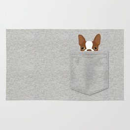 Pocket Boston Terrier - Red Rug