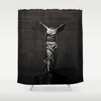 nike Shower Curtains featuring Nike von Samothrake by Phocas
