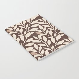 Leaves and Branches in Cream and Brown Notebook