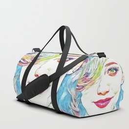 Hilary Duff (Creative Illustration Art) Duffle Bag