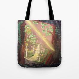 Faery forest cave Tote Bag