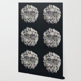 Fake Love White Floral Wallpaper