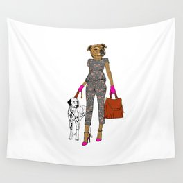 Lady Staffy Wall Tapestry
