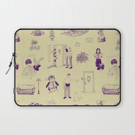 Sitcom Toile Green and Purple Laptop Sleeve