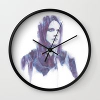 jack white Wall Clocks featuring Jack by Alec Hawkins