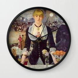 Edouard Manet - Bar w Folies Bergere Wall Clock