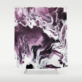 Fluid Expressions - Plums and Cream Shower Curtain