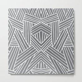 InterLines Gray Metal Print