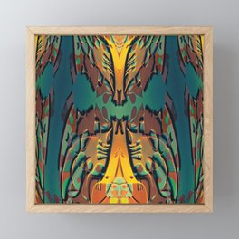 Fox Fire- Art Deco Fantasy Pattern Framed Mini Art Print