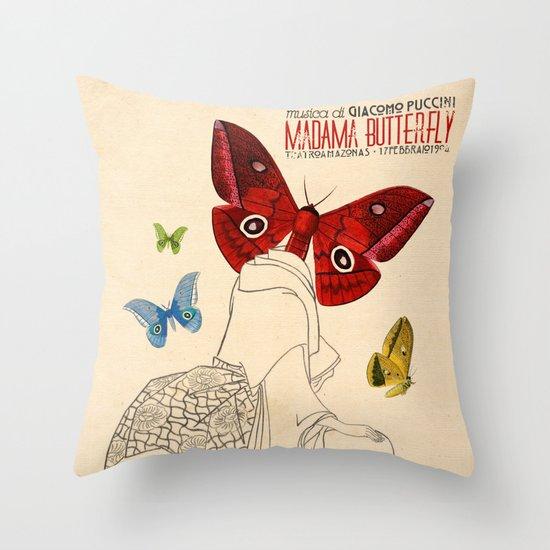 Madama Butterfly Throw Pillow