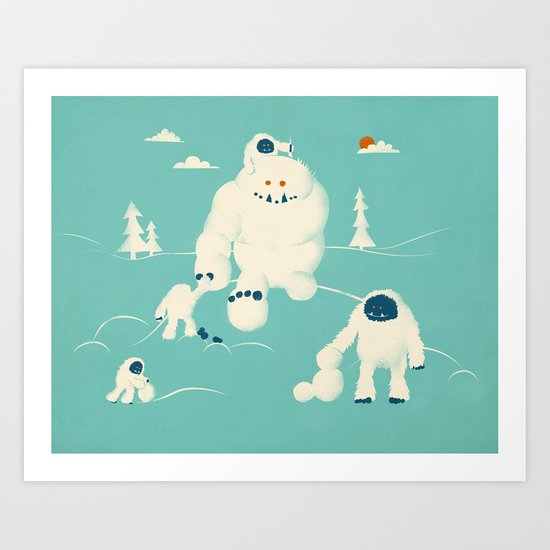 Abominable Snowman's Snowman Art Print