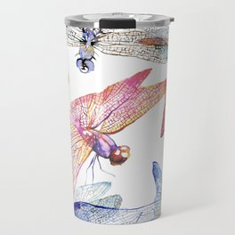 Dragonfly Pack Pink and Blue Travel Mug