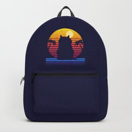 Island Cat Life Retro Aesthetic Backpack