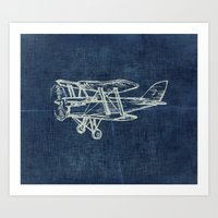 plane Art Prints featuring Plane by Mr and Mrs Quirynen